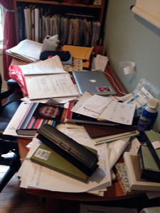 Can you believe MY desk was THIS messy? (How decluttering can save you real $$$$)