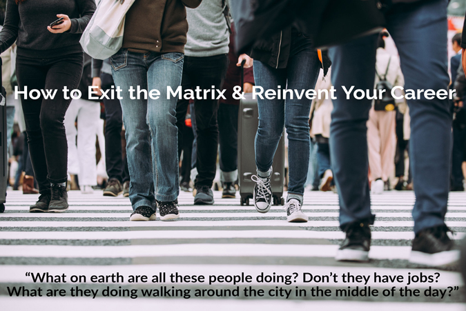 How to Exit the Matrix & Reinvent Your Career